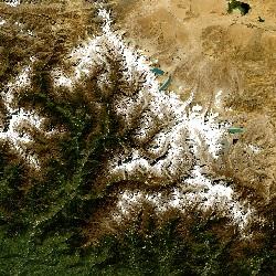 Himalaya Mountains, Nepal/Tibet (UTM/WGS84)